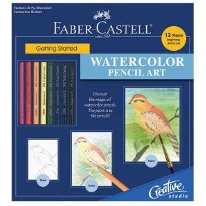 Faber-Castell® Creative Studio Getting Started Watercolor Pencil Art Set: Multi, Book, Watercolor, (model FC800094), price per set