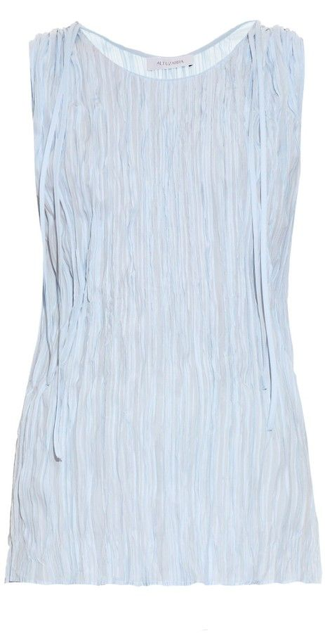 ALTUZARRA Budo sleeveless crepe top