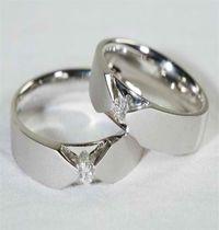 """"""" cincin kawin 28 """" spesifikasi #bahan ( palladium ) #berat ( 10 gram sepasang ) #harga (Rp 3.300.000,- ) sepasang dengan batu sirkon"""
