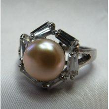 Кольца с жемчугом 001-gr