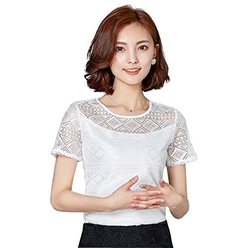 Special Offer: $13.80 amazon.com The delicate lace top hollow pattern style blouse lace tops for women is the personal style evolves with your taste, needs and lifestyle for fashion girl, women and ladies. The going out tops are in very good quality comfortable chiffon fabric. It is also...