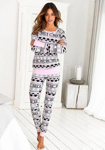 Bench mintás pizsama | Rendeljen online a Lascana webáruházában