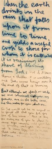 Colin McCahon - When the earth drinks in the rain that falls - Hebrew 5: The shadow and the real (1969)