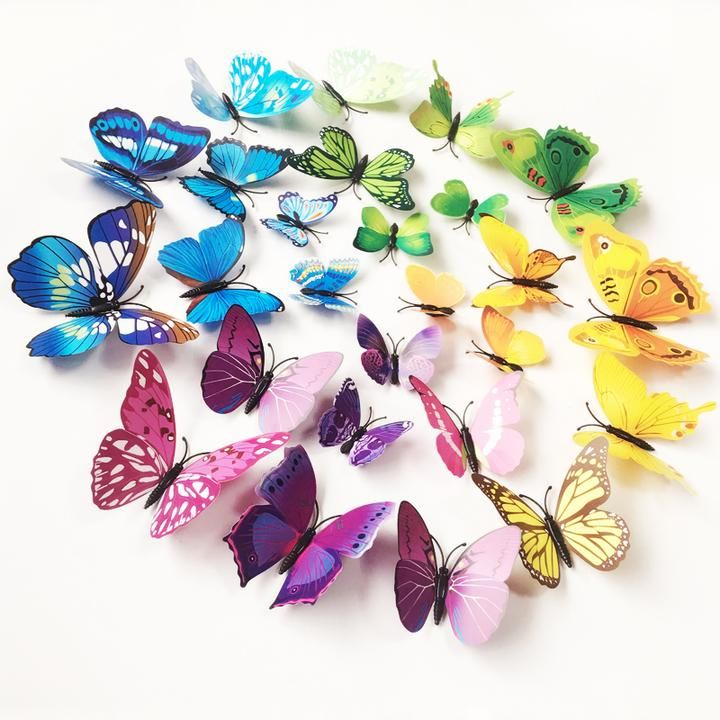 12pcs 3D Butterfly Wall Stickers Art Decals Home Any Room Decorations Decor Kids