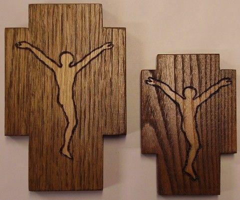 Risultati immagini per croci pirografate