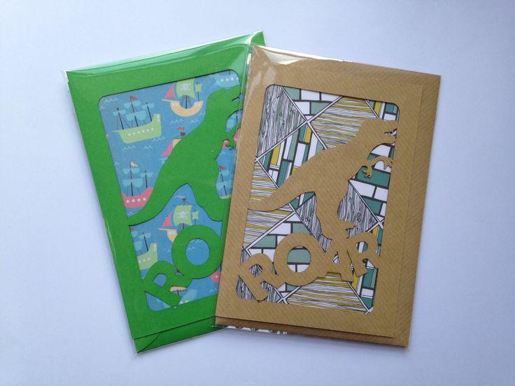 Dinosaur-roar cards