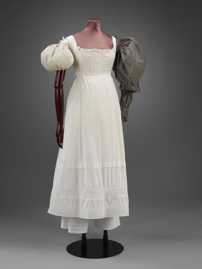 96e674dc0db5 canon era les misérables fashion - 1835 c. Chemise, drawers and sleeve  plumpers.