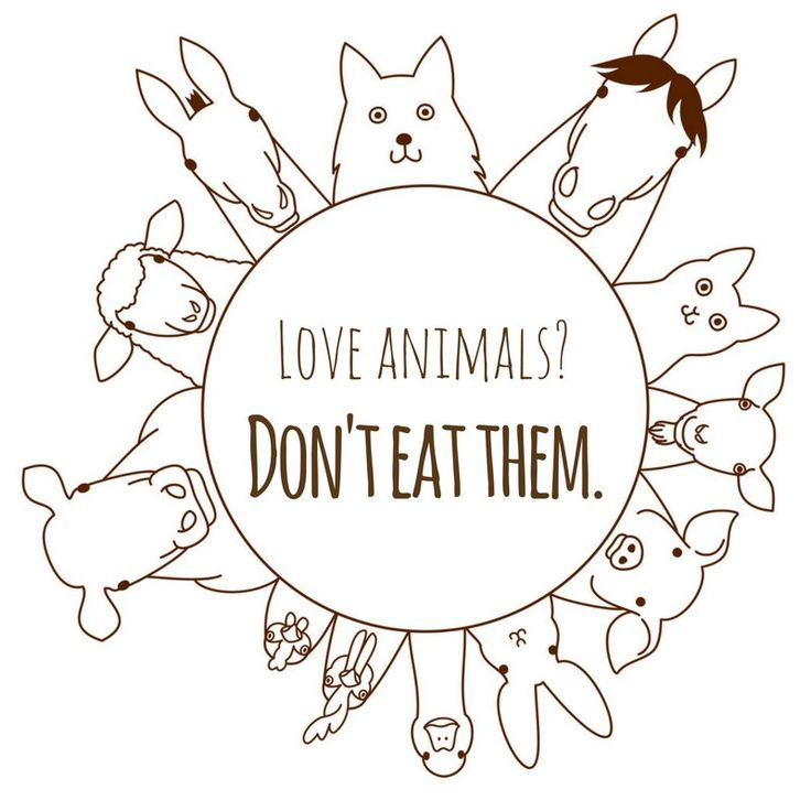 love animals? don't eat them #vegan