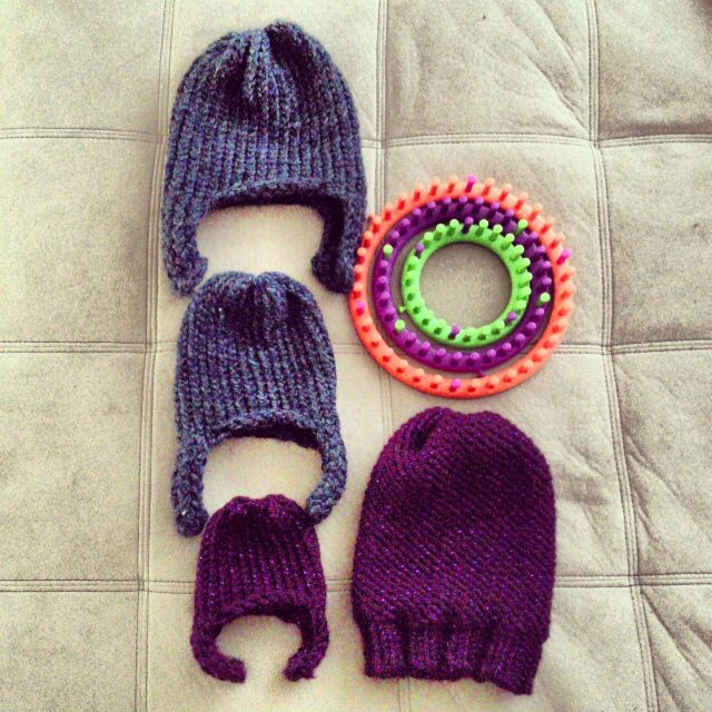 Loom Knit Baby Hat With Ear Flaps : Best images about loom knit hats earwarmers on