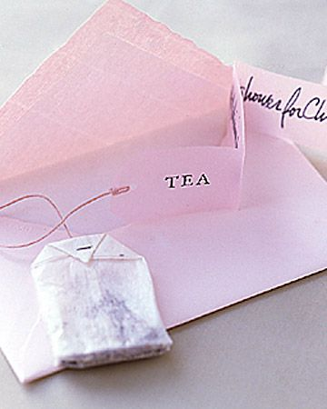 Tea Shower - as little favors/thank you notes?