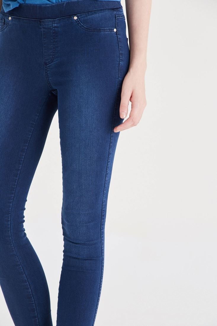 Mavi  Düşük Bel Esnek Tayt Pantolon Online Alışveriş | OXXO