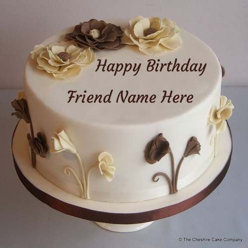 Write Name On Birthday Cake For Lovely Friend. Online Birthday Wishes For Friends.Birthday Greetings Cakes.