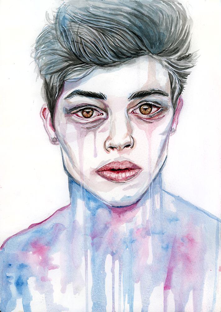Watercolor painting - Francisco by Tomasz-Mro.deviantart.com on @DeviantArt #tomaszmro #tomaszmrozkiewicz #mrozkiewicz