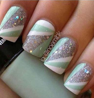 25 beautiful strip nails ideas on pinterest chic nails french 20 coolest striped striped nail art designs and ideas prinsesfo Image collections