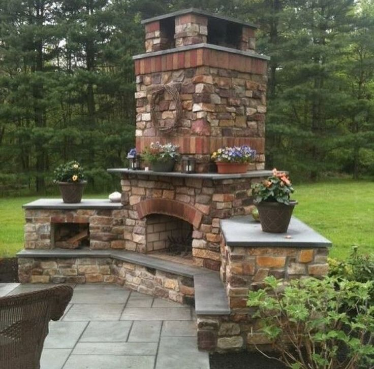 733 best Outdoor fireplace pictures images on Pinterest ...