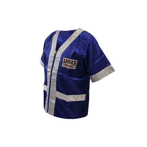 Cornermen's Jacket - $49 Custom satin made cornerman's jacket made from ambersports available at perfect price. Specially made for professionals for great fit and comfort.
