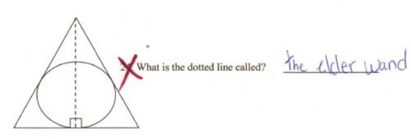 I think you studied from the wrong book: | 36 Test Answers That Are Too Clever For Their OwnGood