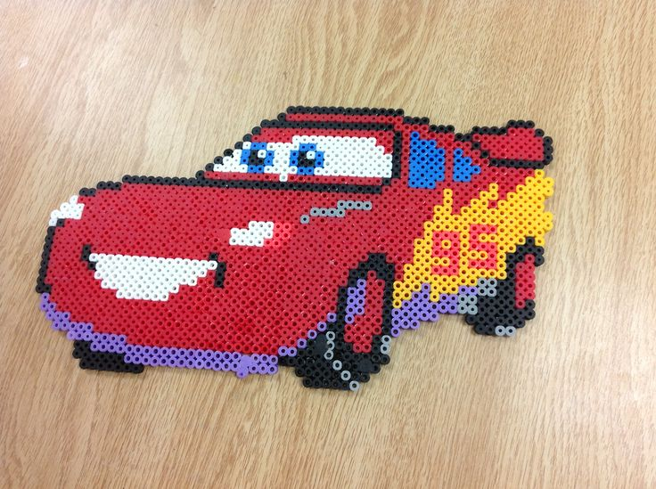 lightning mcqueen cars perler bead by amanda collison