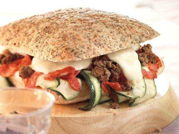 Focaccia met mozzarella en courgette - Libelle Lekker!