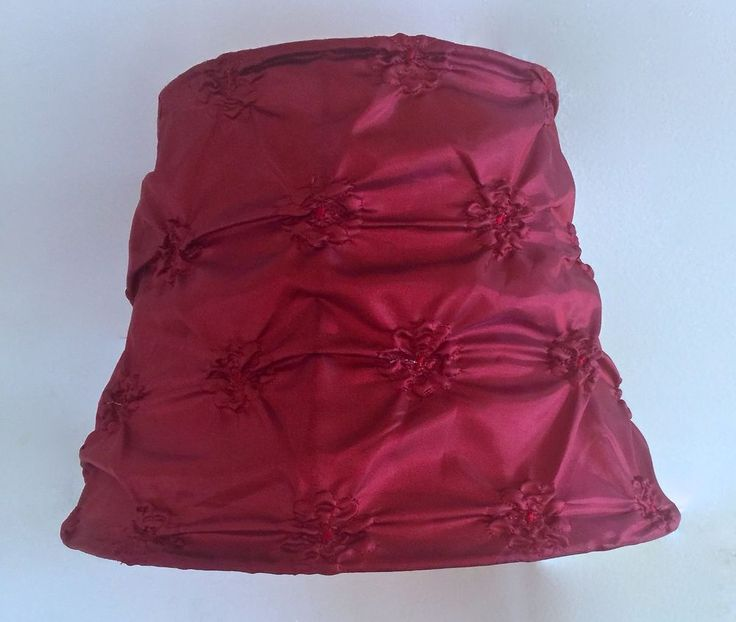 French Style Fabric Lamp Shade~Burgundy~Silk? #SimplyShabbyChic #FrenchEuropean