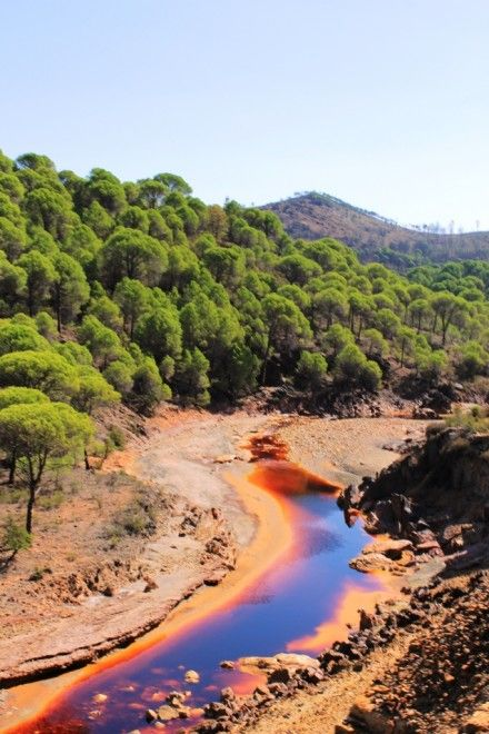 Rio Tinto, Huelva, Andalucia, Spain - most acidic river in the world