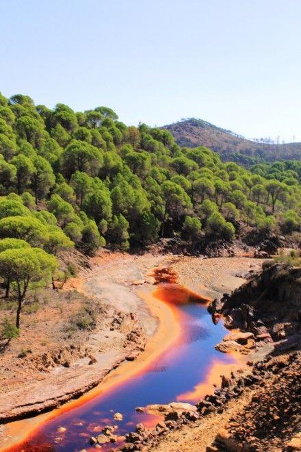 Rio Tinto, Huelva, Andalucia, Spain - most acidic river in the world