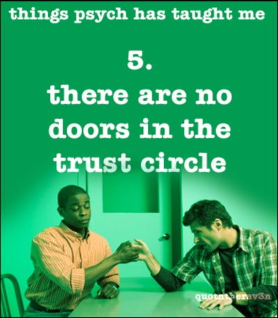 things psych has taught me 5. there are no doors in the trust circle #Psych