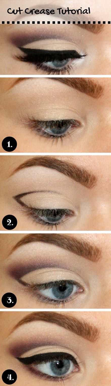 Cut Crease Tutorial for Blue Eyes #coupon code nicesup123 gets 25% off at  Provestra.com Skinception.com