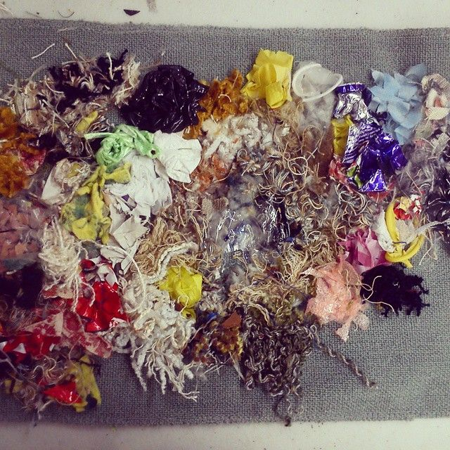 My day consisted of textile experimenting today #textiles #fabric #fabricmanipulation #artcollege #ncad #colour