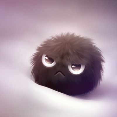 angry, ball, cute, deviantart, fluffy, kikariz, puff