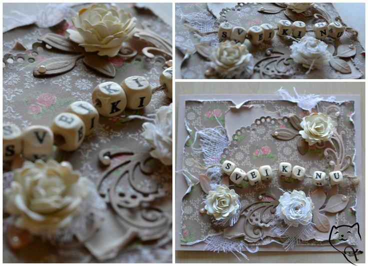 Rankų darbo atvirukas gimimo dienos proga. Handmade birthday card. kamelija27@gmail.com