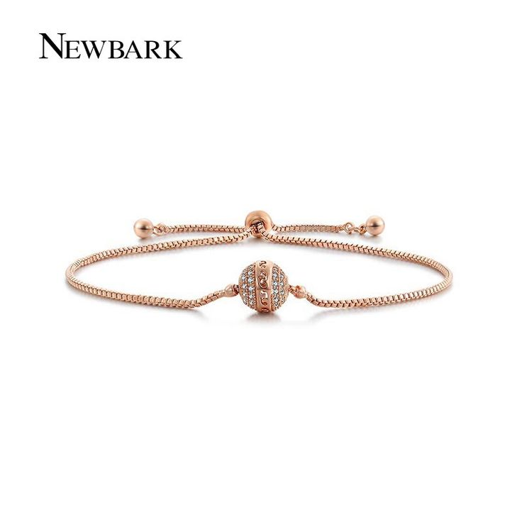 Find More Chain & Link Bracelets Information about NEWBARK New Simple Lucky Beads Bracelets For Women Lady Girls Lover Rose Gold Plated Round Resizable Charm Bracelet Jewelry,High Quality beaded bracelet watch,China beaded star Suppliers, Cheap beads lucite from Newbark Official Store on Aliexpress.com
