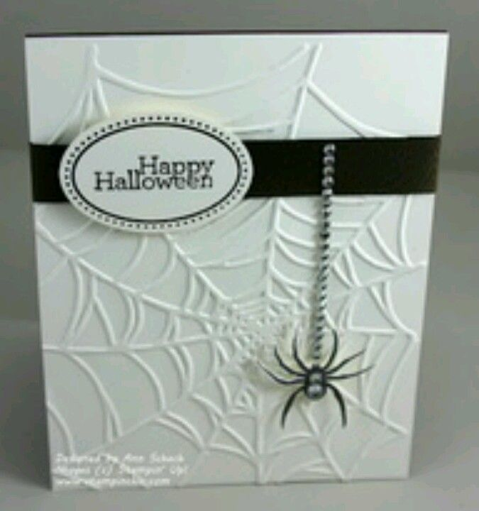 Halloween Card - like the embossing!