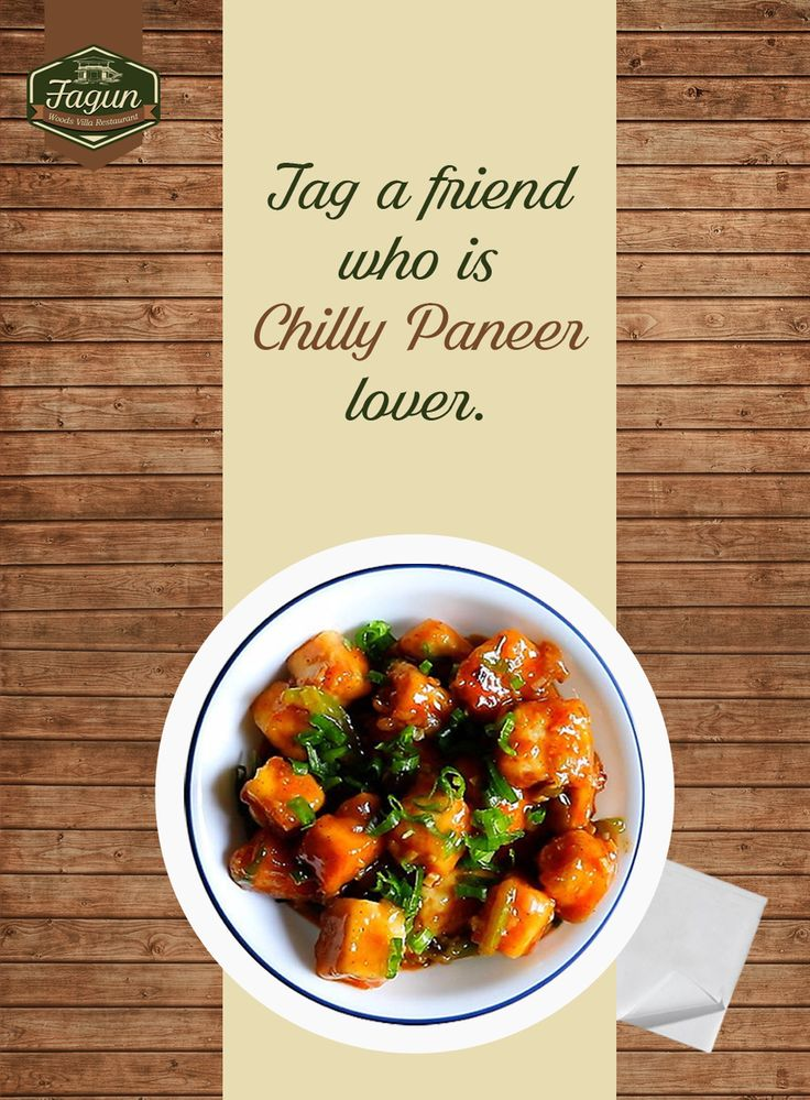 We know everyone has atleast one friend who is Chilly Paneer Lover. Just tag them and make them tempt for it.  #Foodie #Food #FoodLover