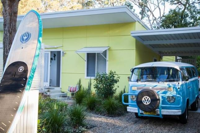 "The Retro Beach House | Pearl Beach, NSW | Accommodation/ ""The Retro Beach Shack is an original 1950's fibro beach shack, owned by Roberta Easton, Stylist and Interior Consultant, Roberta lovingly restored and modernised the home"