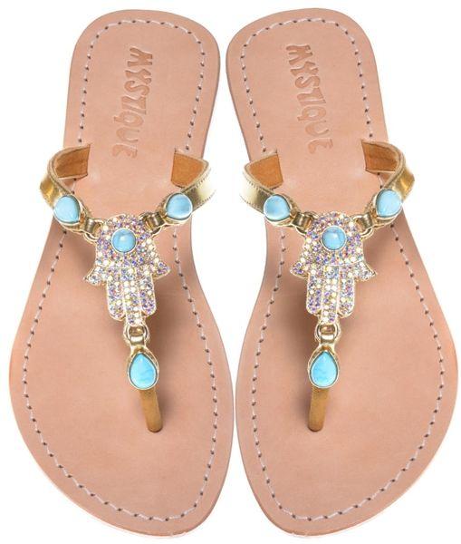 94f0c8f08db0 Mystique Sandals Hamsa ~ Jeweled Sandals