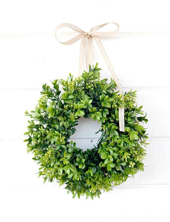 Mini Boxwood Wreath Spring Boxwood Window Wreath Boxwood Wreath Country Cottage Wreath Artifical Boxwood Wreath Wall Hanging Small Wreath Cottage Wreath Small Wreaths Mini Boxwood Wreath