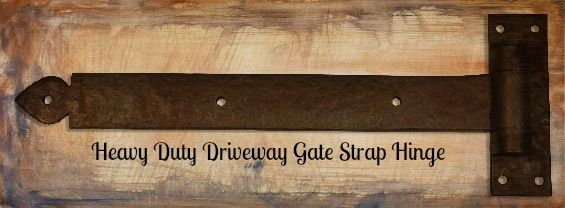 Coastal bronze heavy duty driveway gate strap hinge dark for Driveway gate hardware heavy duty