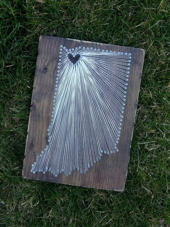 Indiana String Art State string Art Indiana by witheyesunlocked