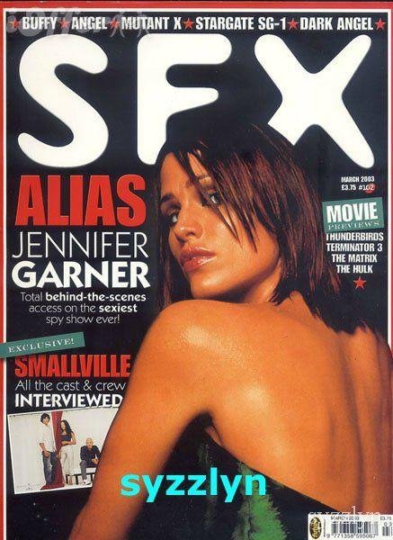 Publicidad subliminal: ¿La revista SFX ha puesta la cabeza de Jannifer Garner en medio a posta para dar a imaginarnos la palabra sex o es pura casualidad?