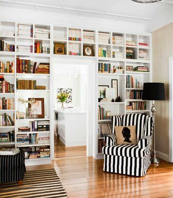 Image result for bookcases by doorways