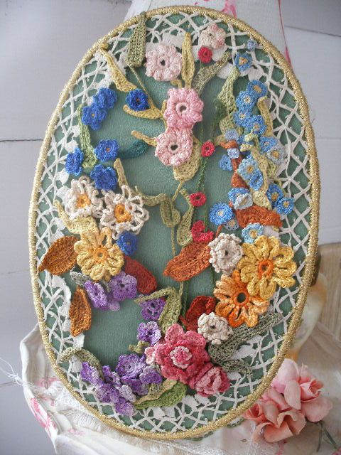 Crochet Flowers Wall Hanging Hanging Flower Wall