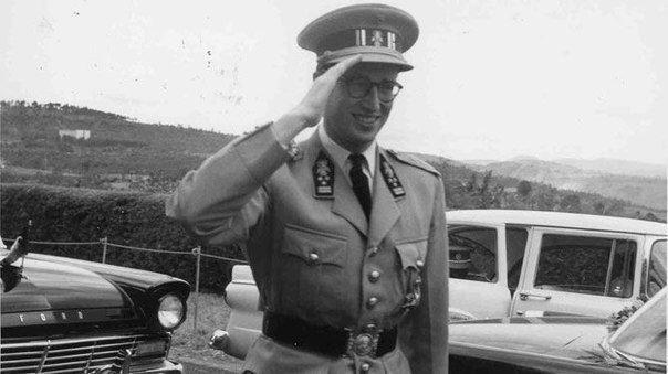 Король Бодуэн I Бельгийский прибыл в Леопольдвиль для представления Конго независимости, 30 июня 1960 года.  Boudewijn van België.  Leopoldville. Congo. 30 June 1960.