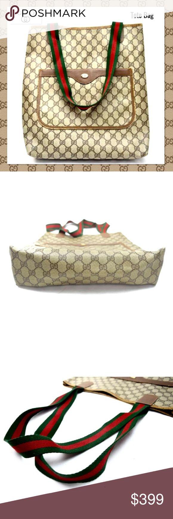 Gucci Tasche Sherry PVC Handtasche Umhängetasche Breite (Zoll): 12,9 Zoll Höhe (…