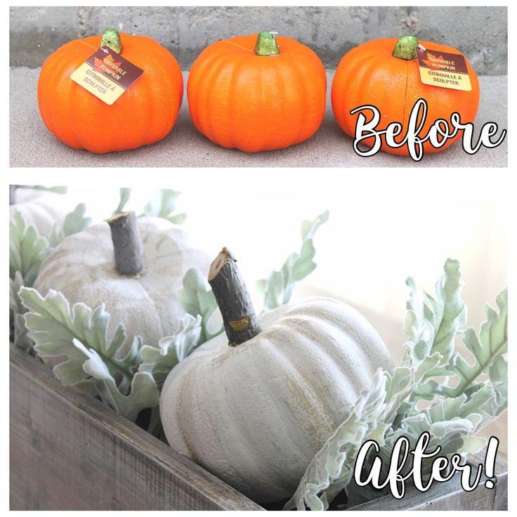 Dollar Store Pumpkin Makeover