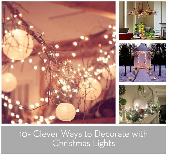 roundup 10 clever ways to decorate with christmas lights