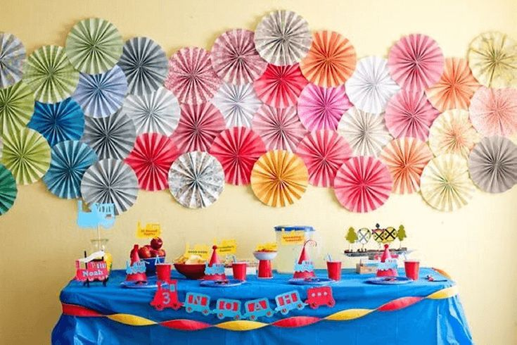 Wall decor for birthday party