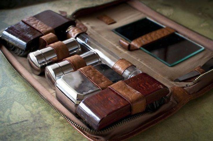 1920年代のメンズレザートイレタリーバッグ fyzi men's Accessories Life-メンズ小物ライフ-