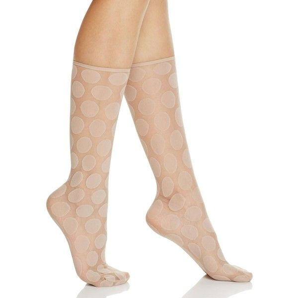 Hue Simply Skinny Dot Socks ($9.12) ❤ liked on Polyvore featuring intimates, hosiery, socks, nude blush, polka dot socks, polka dot hosiery, dot socks, hue socks and hue hosiery