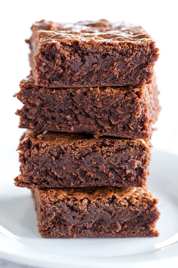 The Baked Brownie! Totally famous and for good reason - they are rich, dense, fudge-like brownies; you'll never need another brownie recipe!